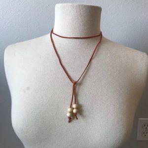 🌞 4/$35 sale Boho leather minimal choker necklace